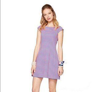 Lilly Pulitzer Briella Dress Stripe Pink Blue XS